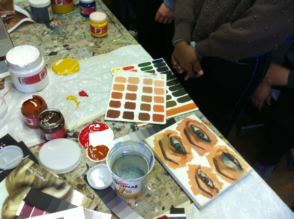 Colour and Eye Studies in Sova's Portrait Painting Class