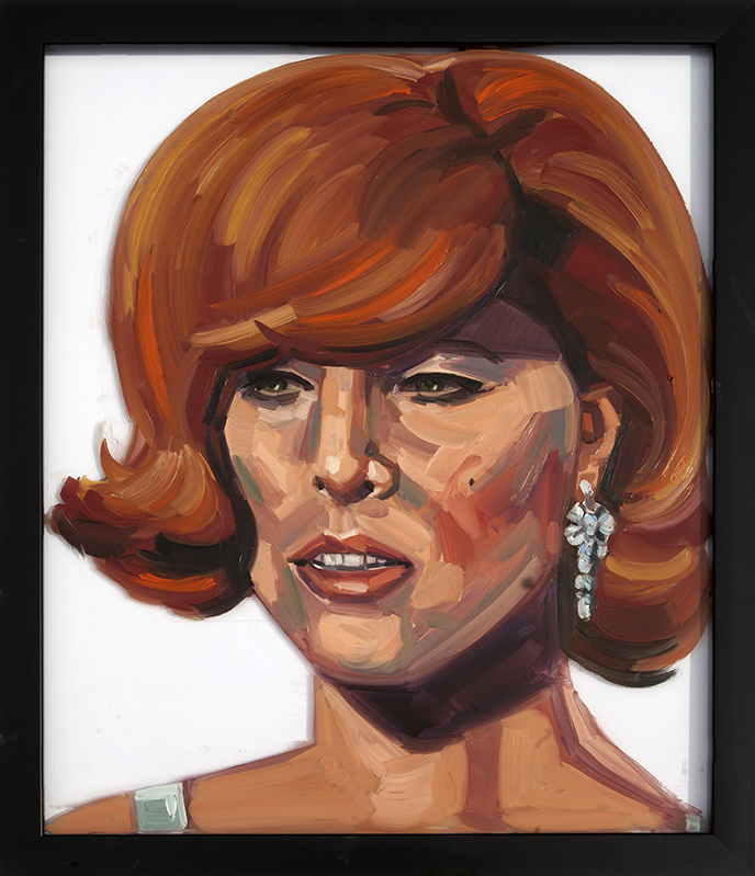 Painting of Ginger On Glass Oil on Glass 16 x 24 inches